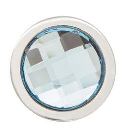 Nikki Lissoni Faceted Aquamarine Swarovski'  RIng Coin