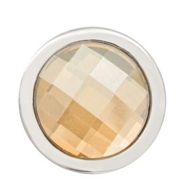 Nikki Lissoni Faceted Golden Shadow Swarovski' Ring Coin