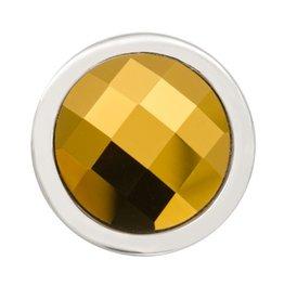 Nikki Lissoni Dorodo Gold Swarovski' Silver Ring Coin