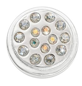 Nikki Lissoni White Opal & Crystal' Silver Ring Coin