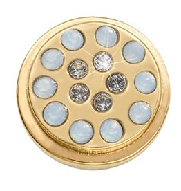Nikki Lissoni Dark Indigo & Capri Blue' Gold RIng Coin