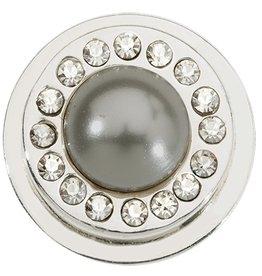 Nikki Lissoni Gray Pearl & Swarvoski Ring Coin