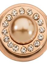 Nikki Lissoni Nikki Lissoni Rose Pearl & Swarovski Ring Coin - RC2040RG