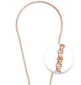 "Nikki Lissoni 24"" Rose Gold Plated Necklace"