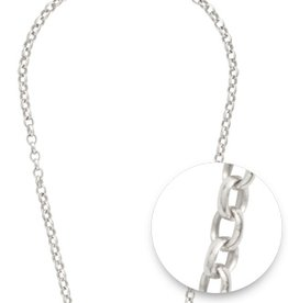 "Nikki Lissoni Nikki Lissoni 36"" Silver Plated Necklace"