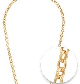 """Nikki Lissoni Nikki Lissoni 24"""" Gold Necklace"""