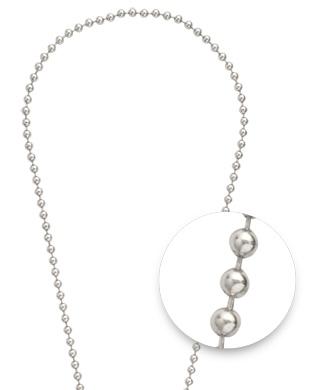 """Nikki Lissoni Nikki Lissoni 24"""" Silver Bead Necklace  - NY01S60"""