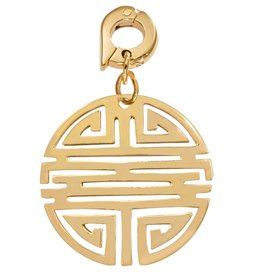 Nikki Lissoni 'Longevity' 25mm Gold Charm