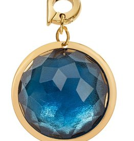 Nikki Lissoni 'Blue Optical Glass' 20mm Charm