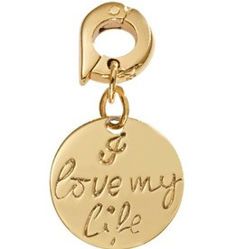 Nikki Lissoni 'I Love My Life' 15mm Gold Charm