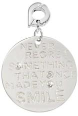 Nikki Lissoni Nikki Lissoni 'Never Forget...' Small Silver Charm - D1066SL