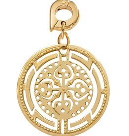 Nikki Lissoni 'Ancient Cross' 25mm Gold Charm
