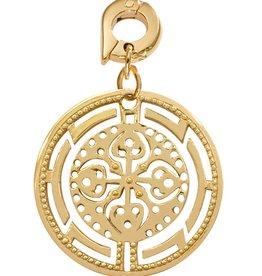 Nikki Lissoni 'Ancient Cross' 25mm Gold Charm