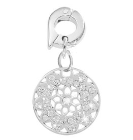 Nikki Lissoni Vintage Flower' 15mm Silver Charm