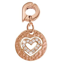Nikki Lissoni 'Small Heart' 15mm Rose Gold Charm