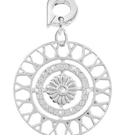 Nikki Lissoni 'Inner Power' 25mm Silver Charm