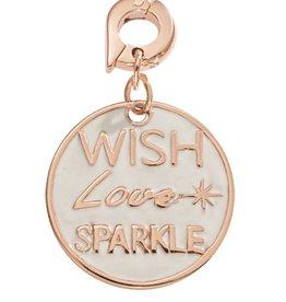 Nikki Lissoni 'Wish, Love, Sparkle' 20mm RG Charm