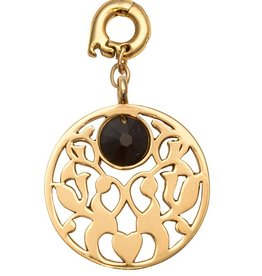 Nikki Lissoni 'Vintage Flower' 25mm Gold Charm