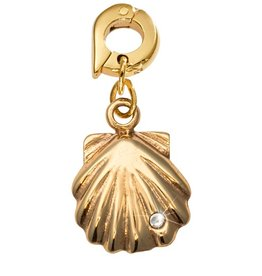 Nikki Lissoni 'Seashell' 20mm Gold Charm