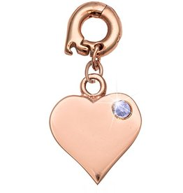 Nikki Lissoni 'Love It Is' 15mm Rose Gold Charm