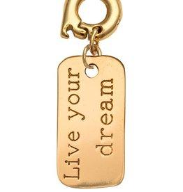 Nikki Lissoni 'Live Your Dream' 20mm Gold Charm