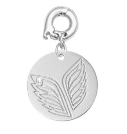 Nikki Lissoni 'Caring Wings' 20mm Silver Charm