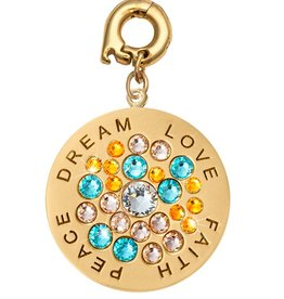 Nikki Lissoni 'Love, Faith, Peace, Dream' 25mm Charm