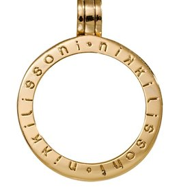 Nikki Lissoni Medium Gold Logo Pendant