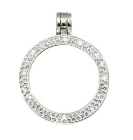 Nikki Lissoni Small Silver Pendant Encrusted in Swarovski Crystals