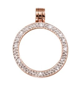 Nikki Lissoni Small Rose Gold Pendant with Swarovski Crystals