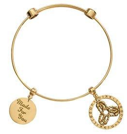 Nikki Lissoni Made for You' Gold Charm Bangle