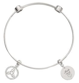 Nikki Lissoni 'Inner Strength' Silver Bangle