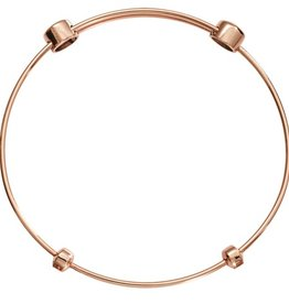 "Nikki Lissoni 7"" Rose Gold Charm Bangle"