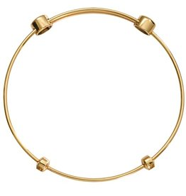 "Nikki Lissoni 8.25"" Gold Charm Bangle"