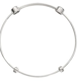 "Nikki Lissoni 8.5"" Silver Charm Bangle"