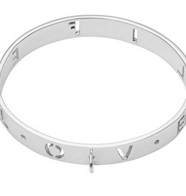 Nikki Lissoni 'Love Life' Silver Bangle