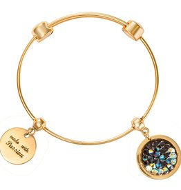 Nikki Lissoni 'Crystal Rock' Gold Bangle