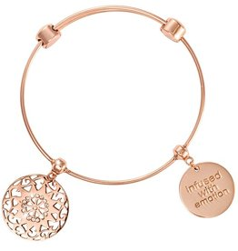 Nikki Lissoni 'Seventeen Diamonds' RG Charm Bangle