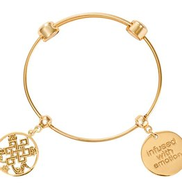 "Nikki Lissoni 'Endless Knot' 6.5"" Gold Charm Bangle"