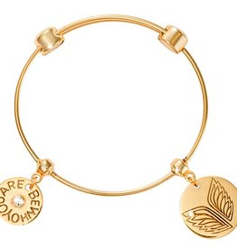 Nikki Lissoni Caring Wings Charm Bangle
