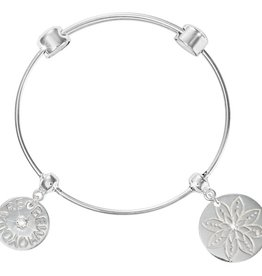 Nikki Lissoni 'Lotus' & 'Be Who You Are' Charm Bangle