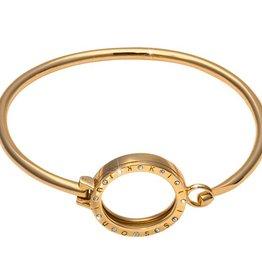"Nikki Lissoni 6.5"" Gold Pendant Bangle"