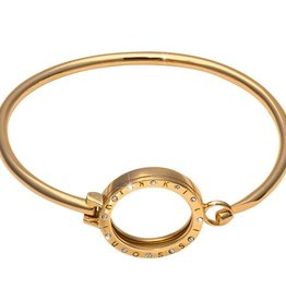 "Nikki Lissoni 7"" Small Gold Pendant Bangle"