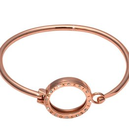 "Nikki Lissoni 7.5"" Rose Gold Pendant Bangle"