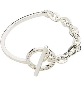 "Nikki Lissoni 7.5"" Silver Bracelet/Bangle"