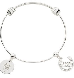 Nikki Lissoni 'Made with Love' Silver Charm Bangle