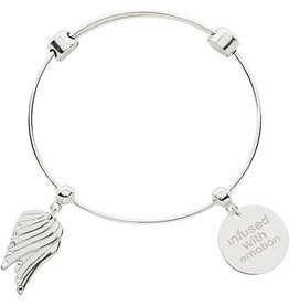Nikki Lissoni Angel Wing & 'Infused with Emotion' Bangle