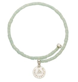 Nikki Lissoni Sea Green Bead Bangle