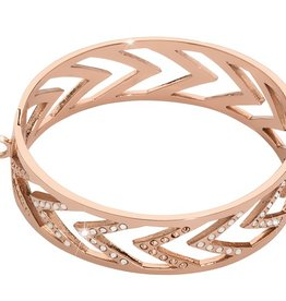 Nikki Lissoni Rose Gold Chevron Bangle