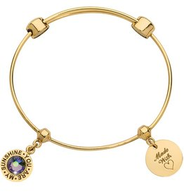 Nikki Lissoni 'You Are My Sunshine' Charm Bangle